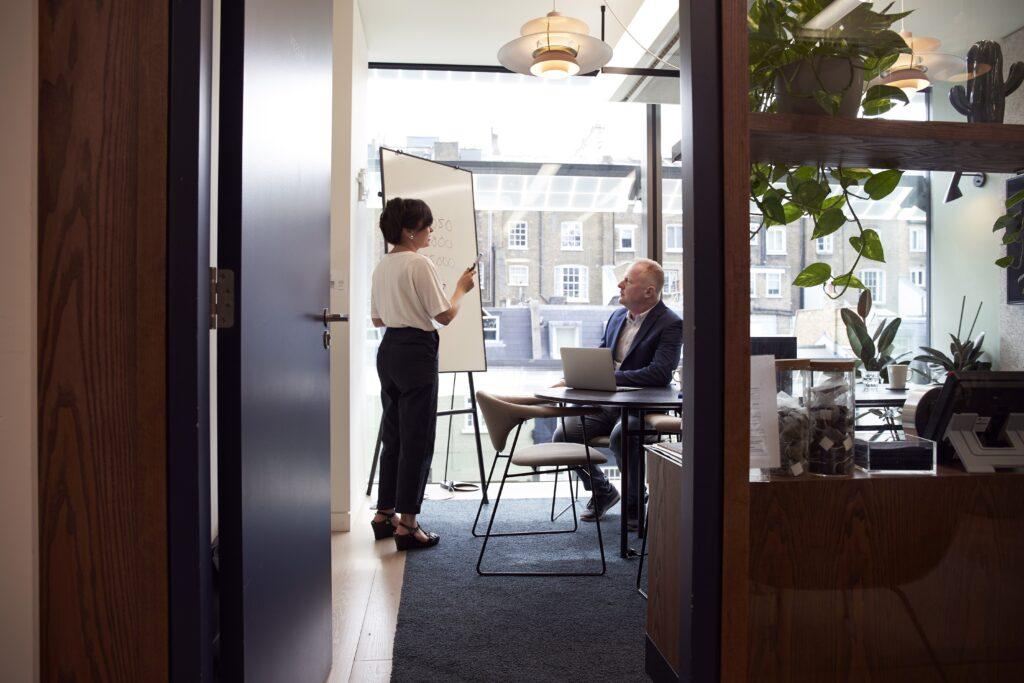 bureau dans le centre de Londres